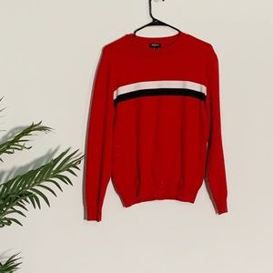Other - Red sweater with blue and white detailing